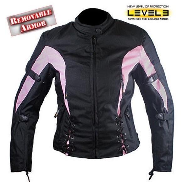 3213a619f Pink & Black Xelement Motorcycle Jacket